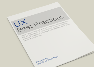 Document that captures UX best practices as proposed by an internal UX team