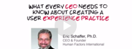 CEO video - HFI video in which Dr Eric Schaffer enlists what every CEO needs to know about UX.